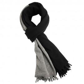 Svart och grå halsduk i merino / kashmir