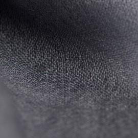 Mörkgrå pashmina sjal i tuskaftbindning