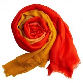 Dip-dye sjal i gyllene/orange