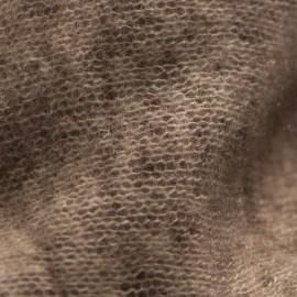 Brun kvadratisk scarf med fransar