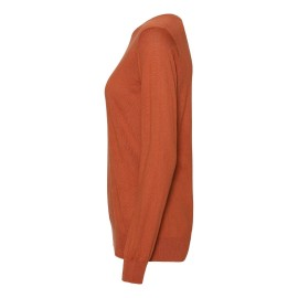 Orange tröja i silke / kashmir rund hals