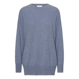 Duvblå oversize kashmir tröja