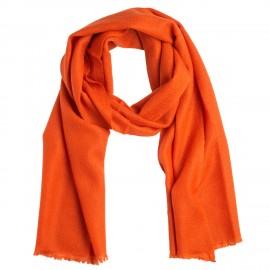 Liten kashmir halsduk i rost orange