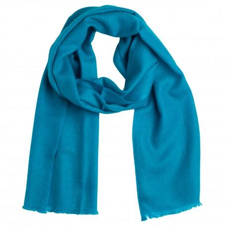 Liten petroleumblå kashmir halsduk