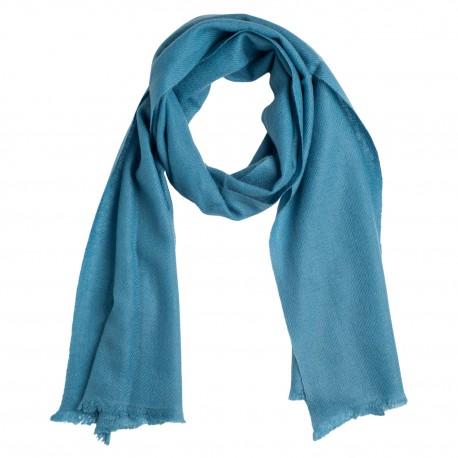 Liten duvblå kashmir halsduk