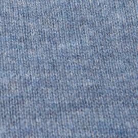 Duvblå halsvärmare i stickad kashmir