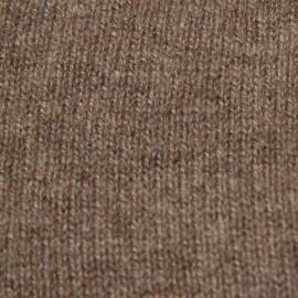 Taupegrå halsvärmare i stickad kashmir