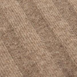 Taupegrå stickad halsduk i kashmir