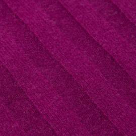 Plommonfärgad halsduk i stickad kashmir