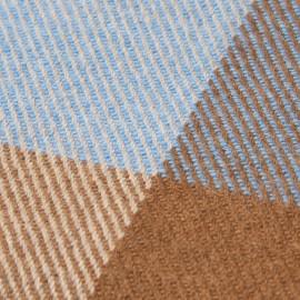 Handvävd rutig pläd i kashmir och ull