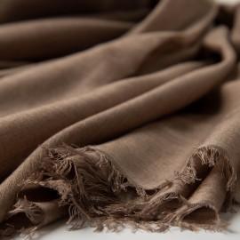 Extra stor kashmir / silkesjal i taupegrå