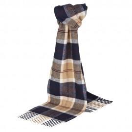 Mörkblå skotskrutig halsduk
