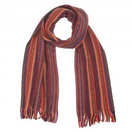 Flerfärgad randig halsduk i olika nyanser av rött