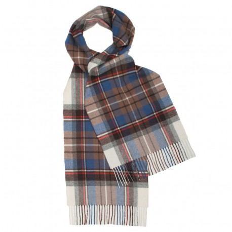 Ljusblå skotskrutig halsduk