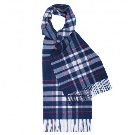 Blå skotskrutig halsduk