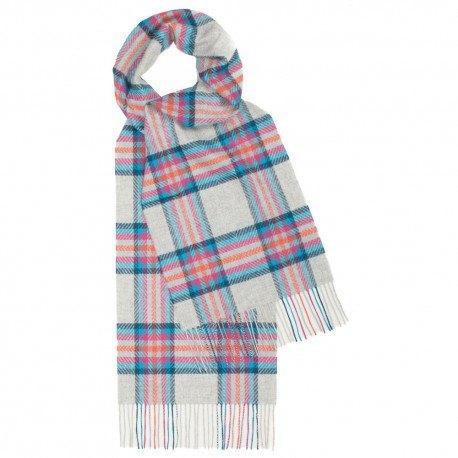Ljusblå tartan halsduk