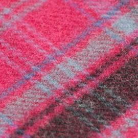 Violet skotskrutig halsduk