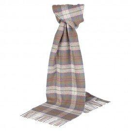 Silvergrå skotskrutig halsduk