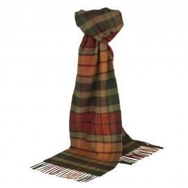 Tartan scarf i olika nyanser av orange