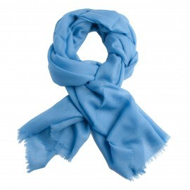 Ljusblå diamantvävd pashmina sjal