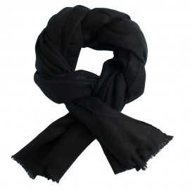 Svart kypertvävd pashmina scarf