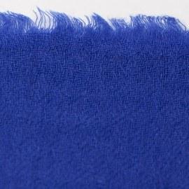 Kungsblå diamantvävd pashmina sjal