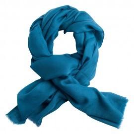 Stålblå diamantvävd pashmina sjal