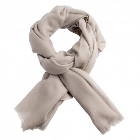 Ljusgrå diamantvävd pashmina sjal