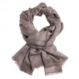 Gråbrun jacquardvävd pashmina sjal