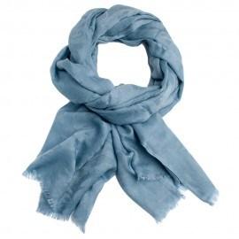 Skiffergrå jacquardvävd pashmina sjal