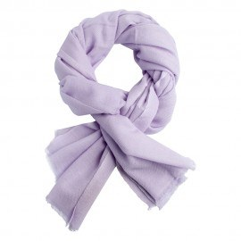 Lavendelfärgad kypertvävd pashmina halsduk