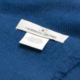 Svartblå kypertvävd pashmina halsduk