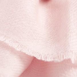 Ljusrosa kypertvävd pashmina halsduk