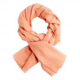 Persikofärgad kypertvävd pashmina scarf