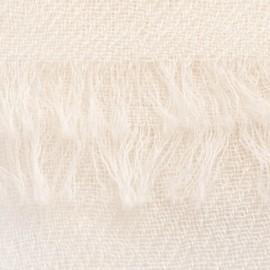 Benvit pashmina sjal i 2-trädigt kypert