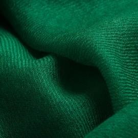 Mörkgrön pashmina sjal i 2-trädigt kypert