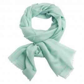 Mintgrön pashmina sjal i 2-trådigt kypert