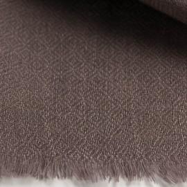 Gråbrun diamantvävd pashmina sjal