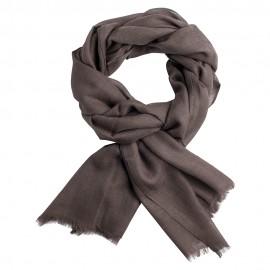 Mus grå diamantvävd pashmina sjal