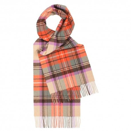 Orange skotskrutig halsduk