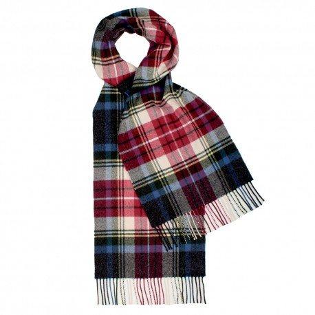 Blå och röd skotskrutig halsduk