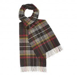 Mörkgrå skotskrutig halsduk