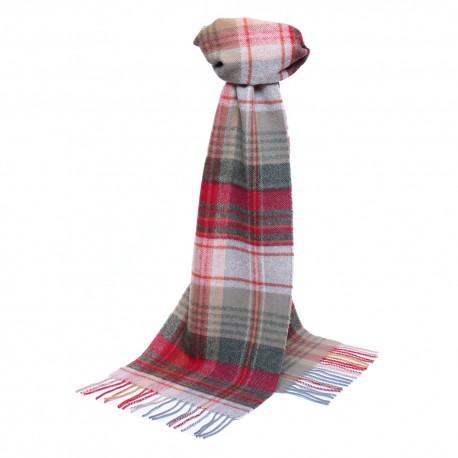 Ljusgrå skotskrutig halsduk
