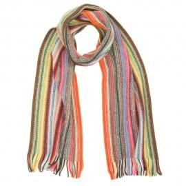 Mångfärgad randig halsduk