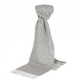Ljusgrå scarf i lammull