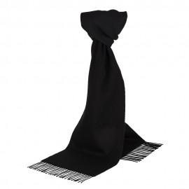 Sort scarf i lammull