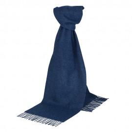 Mörkblå scarf i lammull
