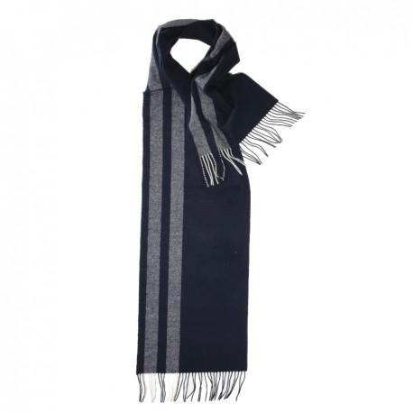 Randig scarf i nyanser av blått