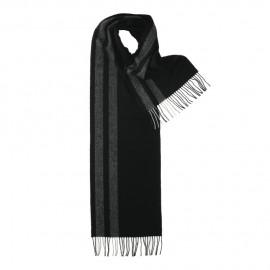 Svart scarf med grå ränder