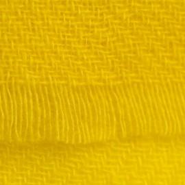 Gul kypertvävd pashmina sjal
